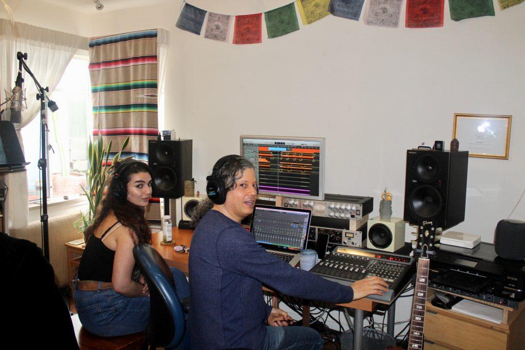 Isabella and Joe in studio