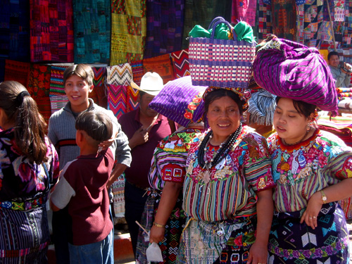 Mayan women in Chichicastenango , Guatemala - photograph by Joe Rizzo