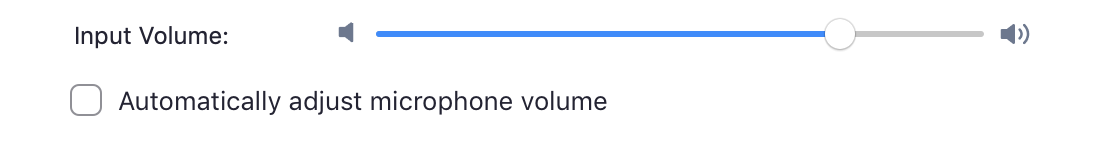 uncheck automatically adjust volume